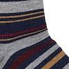 Mohr Bamboo Stripe Socks Frost Grey