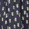 Fetlar Printed Viscose Midi Dress Navy