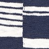 Lassen Mixed Stripe Cotton Jumper Dark Navy