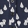 Alice Print Long Sleeve Longer Length T-Shirt Dark Navy