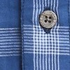 Lindale Cotton Double Faced Long Sleeve Check Shirt Ensign Blue