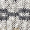 Zamora Metallic FairIsle Jumper Pearl Grey