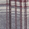 Cullin Organic Cotton Long Sleeve Printed Check Jersey Shirt Grey