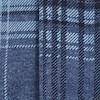 Cullin Organic Cotton Long Sleeve Printed Check Jersey Shirt Navy