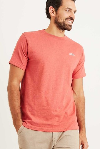Bones Embroidered Logo Classic Plain T-Shirt Baked Apple Marl