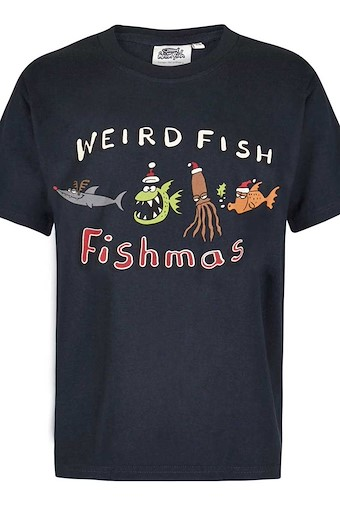 Fishmas Boy's Artist T-Shirt Carbon