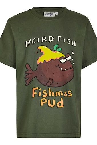 Fishmas Pud Boy's Artist T-Shirt Thyme