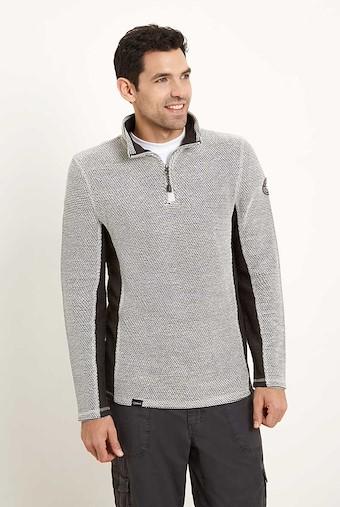 Siren 1/4 Zip Mac Active Macaroni Sweatshirt Soft Grey