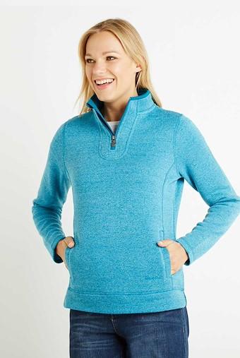Vogel 1/4 Zip Soft Knit Fleece Blue Jay