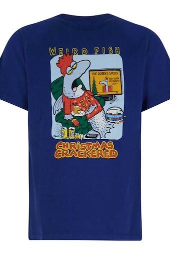 Crackered Artist T-Shirt Estate Blue