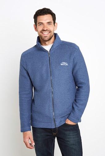 Sickle Full Zip Classic Macaroni Sweatshirt Ensign Blue