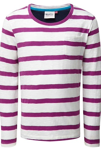 Evie Striped Jersey T-Shirt Sloeberry