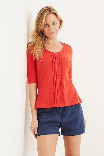 Santana Slub Jersey Outfitter T-Shirt Tango Red