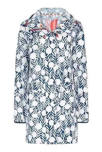 Chiku Printed Fully Waterproof Jacket Dark Denim