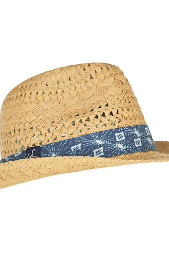Diwali Straw Trilby Hat Natural