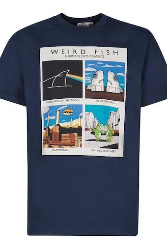 Shrimp Floyd Artist T-Shirt Maritime Blue