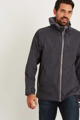 Prescott Fully Waterproof Hooded Jacket Coal