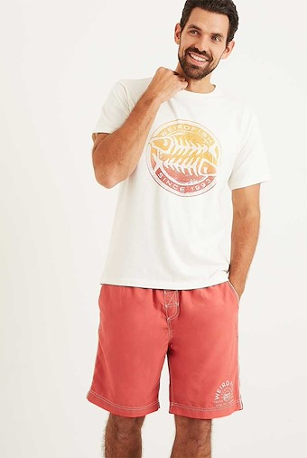 Gradient Bones Graphic Print T-Shirt Marshmallow Marl