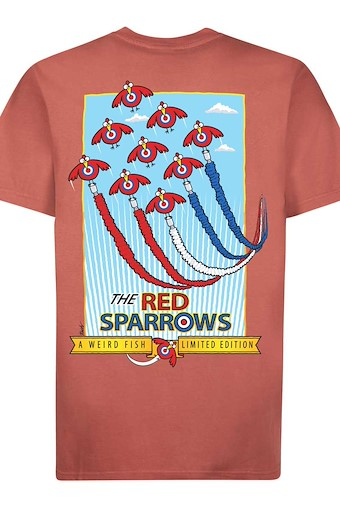 Red Sparrows Artist T-Shirt Brick Red