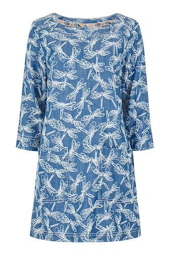 Shipra Printed Tencel ® Tunic Blue Surf