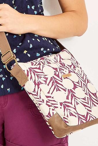 Amira Printed Cotton Cross Body Bag Boysenberry