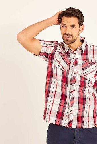 Jennings MicroSand Check Shirt Rose
