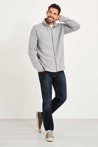 Helmstead Full Zip Seira Knit Grey