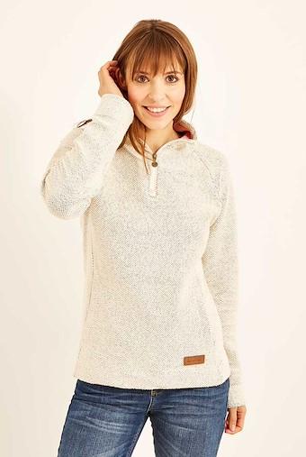 Augusta 1/4 Zip Siera Knit Light Cream