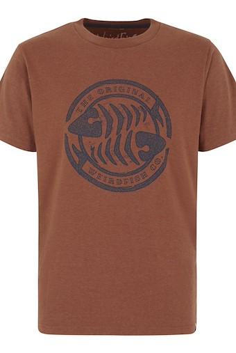 WF Surf Branded Graphic T-Shirt Brick Orange Marl