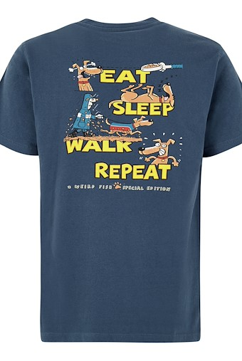 Eat Sleep Walk Artist T-Shirt Ensign Blue