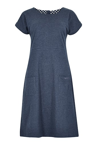 Talia Plain Jersey Dress Dark Navy
