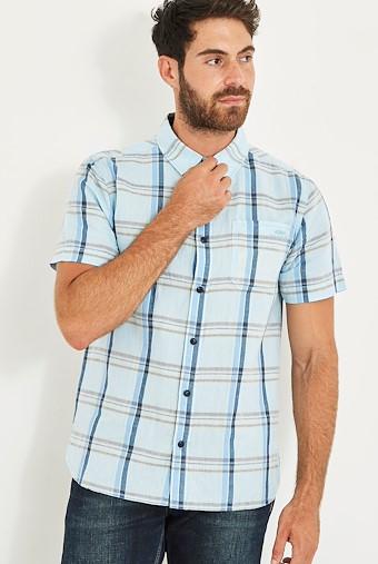Winnfield Chambray Short Sleeve Shirt Pale Denim