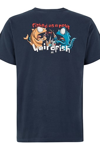 Fished As A Newt Artist T-Shirt Black Iris