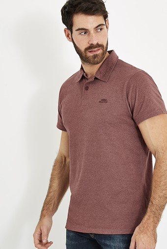 Tyrie Branded Polo Oxblood Red Marl