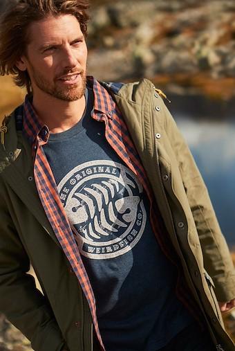WF Surf Branded Graphic T-Shirt Black Iris Marl