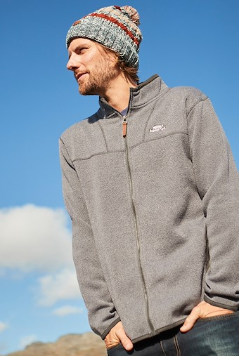 Lindauer Full Zip Soft Knit Fleece Grey