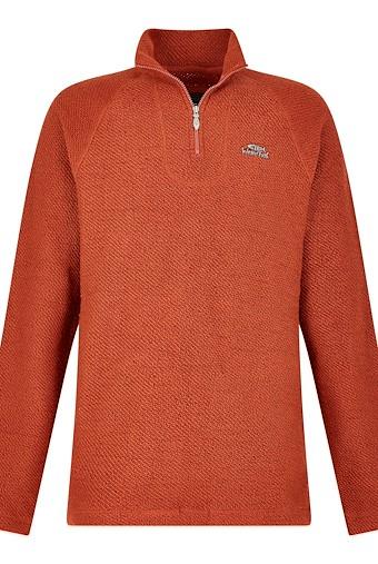 Keady Sierra Knit 1/4 Neck Brick Orange