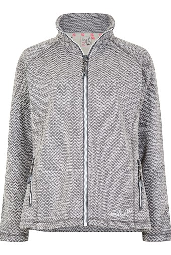 Wendy Bonded Textured Fleece Frost Grey