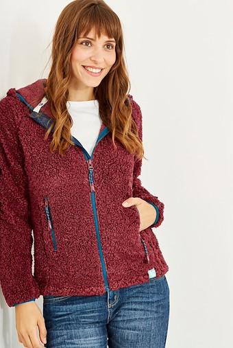 Imperial Full Zip Fleece Hoodie Winter Berry Marl