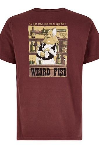 Western Fish Artist T-Shirt Oxblood