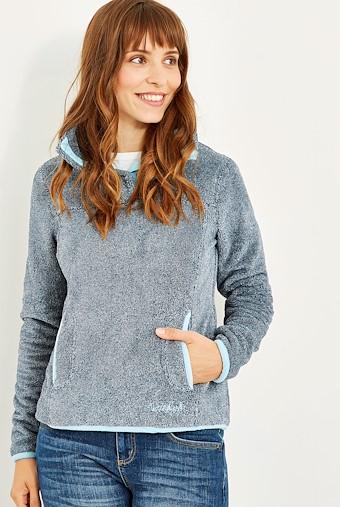 Octavia Plush Fur Pop Over Fleece Dark Navy