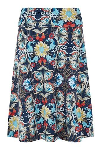 Malmo Printed Jersey Skirt Scandi Blue