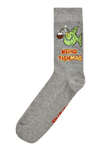 Weird Fishmas Artist Sock Grey Marl