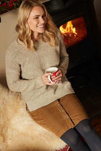 Sally Cable Knit Jumper Chalk