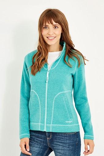 Galata Full Zip Soft Knit Fleece Aqua Marine