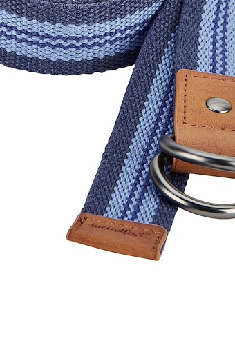 Clara Webbing Belt Dark Navy