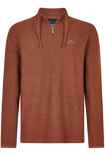 Cruiser 1/4 Zip Classic Macaroni Burnt Brick