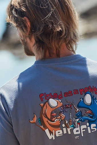 Fished As A Newt Artist T-Shirt Dusty Teal