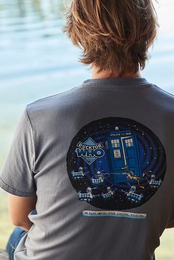 Ducktor Who Artist T-Shirt Ensign Blue