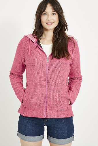Tansy Classic Macaroni Hoodie Hot Pink